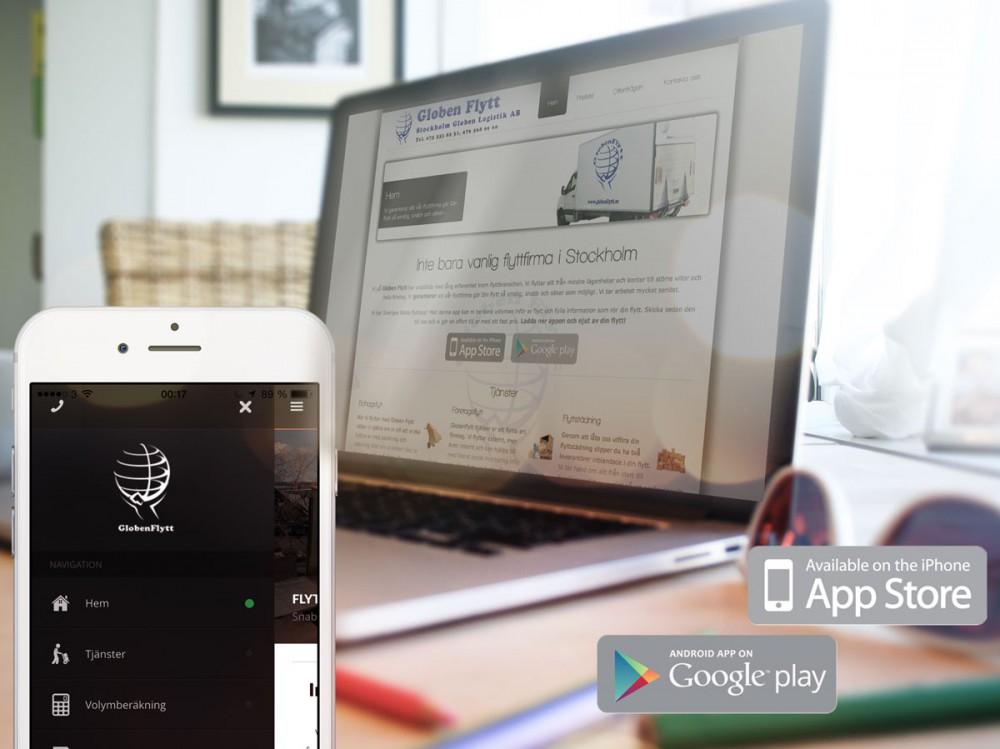 globenflytt flyttfirma referensen webbyrå stockholm