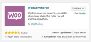 WooCommerce e-handel webbshop stockholm